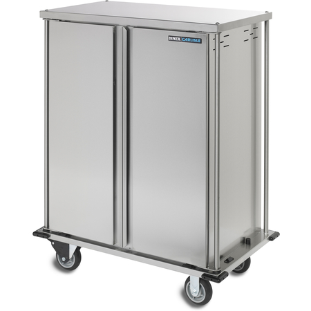 "DXTQ1T2D20 - 20 Tray Cart, Double Door, One Tray per Slide 44.14"" x 27.58"" x 66.30"" - Stainless Steel"