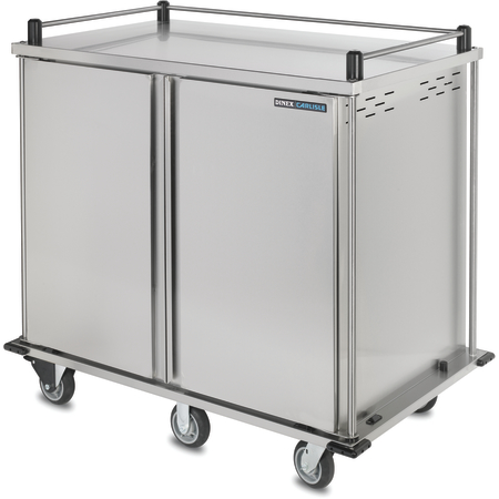 "DXTQ2T2D24 - 24 Tray Cart, Double Door, Two Trays per Slide 56.14"" x 36.26"" x 50.55"" - Stainless Steel"