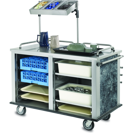 """DXMTXSCN1 - Mealtime Xpress Support Cart 52.35"""" L x 37.81"""" H x 29.19"""" W - Stainless Steel"""