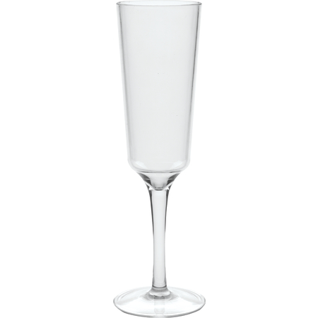4950007 - Astaire Stemware Clear Plastic Champagne Flute 6 oz - Clear