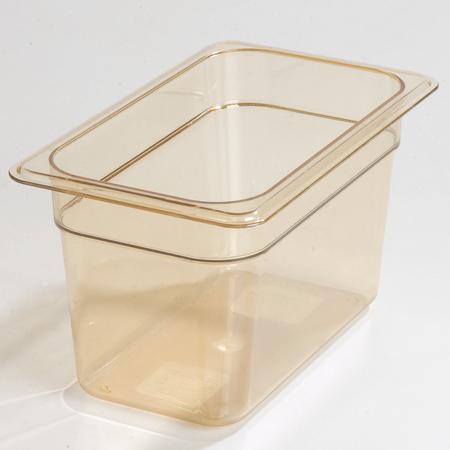 "3088213 - StorPlus™ Food Pan HH 6"" DP 1/4 Size - Amber"