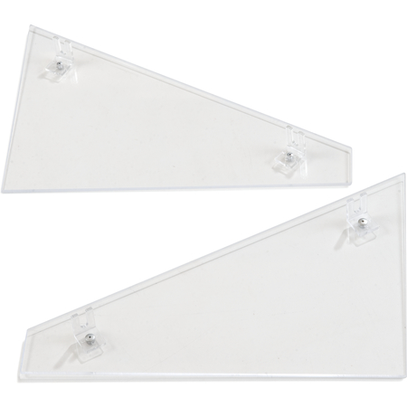 905107 - Single End Panel (encloses one side of food bar ) - Clear