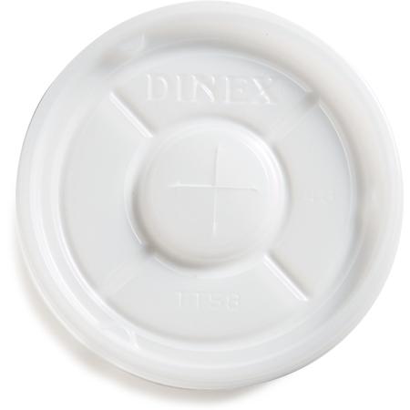 DXTT58 - Disposable Lid with Straw Slot - Fits Specific 9 - 16 oz Dinex, Carlisle, Cambro and G.E.T. Enterprises Tumblers (1000/cs) - Translucent