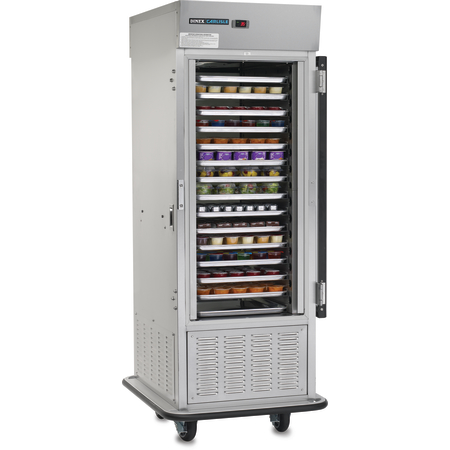 "DXIRAC15HDLEF - Air Curtain Refrigerator, 15 Slides Glass Doo 31.50""L x 39.37""D x 82.63""H - Stainless Steel"