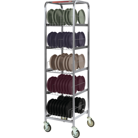 """DXIBDRS90 - Dinex® Drying and Storage Rack (Holds 90 Induction Bases) 20.5"""" x 22"""" x 78"""" - Stainless Steel"""