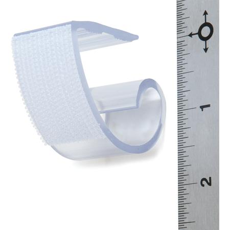"5CCCCLIP-12 - Standard Plastic Skirting Clip, Hook & Loop Header - 12 Pack 1"" - Clear"