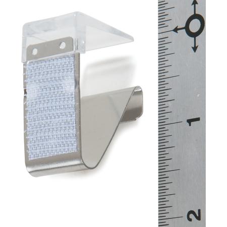 """5CC118MP-12 - Standard Metal Skirting Clip, Hook & Loop Header - 12 pack 3/4"""" - Clear"""