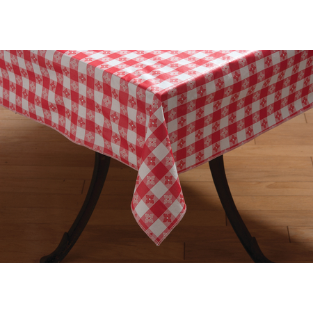 "51515252SM001 - Classic™ Series Tablecloth Check 52"" x 52"" - Red"