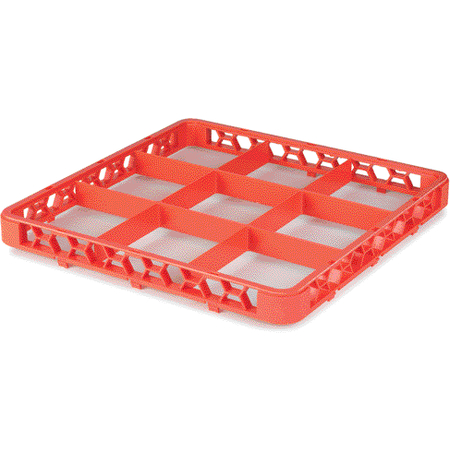 "RE9C24 - OptiClean™ 9 Compartment Divided Glass Rack Extender 1.78"" - Orange"