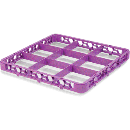 """RE9C89 - OptiClean™ 9 Compartment Divided Glass Rack Extender 1.78"""" - Lavender"""
