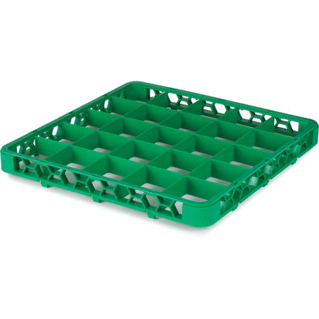 "RE25C09 - OptiClean™ 25 Compartment Divided Glass Rack Extender 1.78"" - Green"