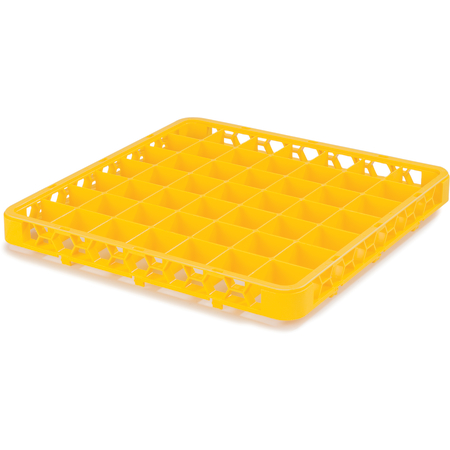 """RE49C04 - OptiClean™ 49 Compartment Divided Glass Rack Extender 1.78"""" - Yellow"""