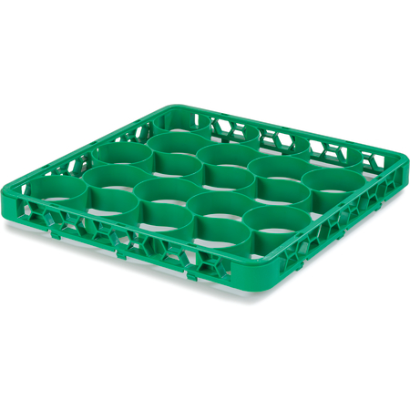 REW20SC09 - OptiClean™ NeWave™ Color-Coded Short Glass Rack Extender 20 Compartment - Green