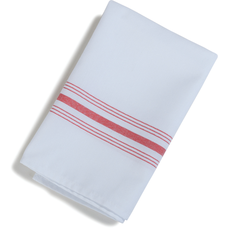 "53771822NH148 - SoftWeave™ Bistro Striped Napkin 18"" x 22"" - Raspberry"