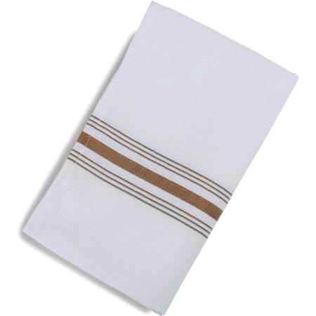 "53771822NH515 - SoftWeave™ Bistro Striped Napkin 18"" x 22"" - Chocolate"