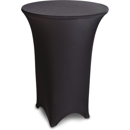 """EMB5026HT30014 - Embrace™ High Top Round Stretch Table Cover 30"""" - Black"""