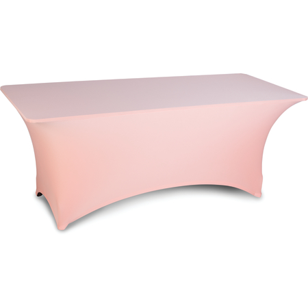 "EMB5026RT630030 - Embrace™ Rectangle Stretch Table Cover 72"" x 30"" x 30"" - Peach"
