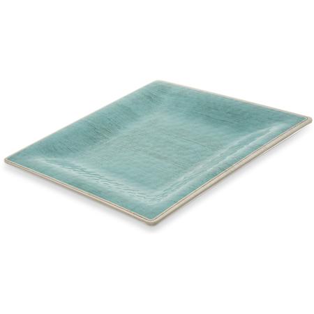 """6402215 - Grove Melamine Square Plate 10.5"""" - Aqua"""