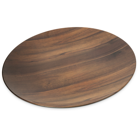 "EAG1069 - Epicure® Acacia Grain Round Platter 19.25"" - Dark Woodgrain"