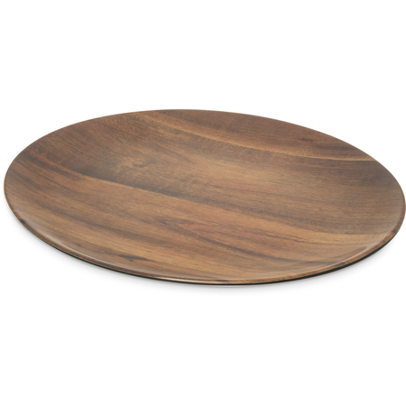 "EAG0469 - Epicure® Acacia Grain Oval Platter 18"" x 15"" - Dark Woodgrain"