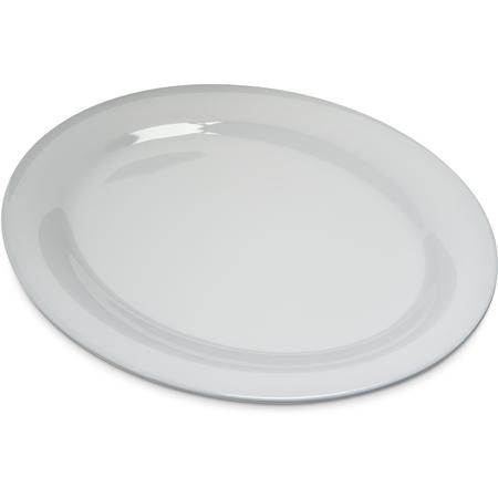 "4308202 - Durus® Melamine Oval Platter Tray 12"" x 9"" - White"