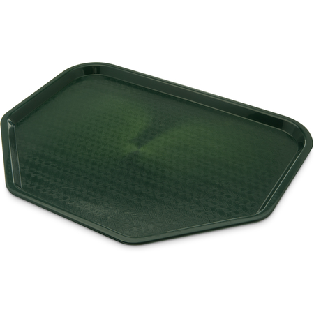 "CT1713TR08 - Cafe® Trapezoid Tray 18"" x 14"" - Forest Green"