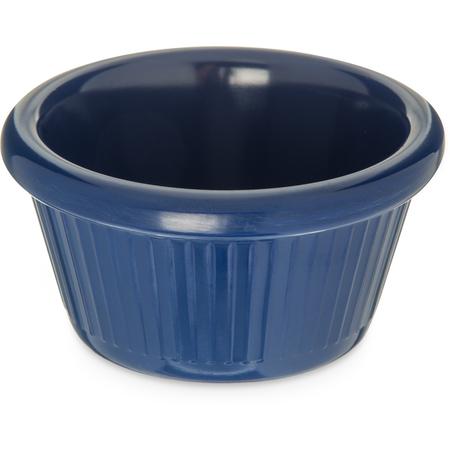 S27960 - Melamine Fluted Ramekin 2 oz - Cobalt Blue
