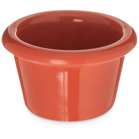S27552 - Melamine Smooth Ramekin 1.5 oz - Sunset Orange