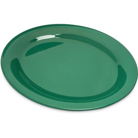 "4308209 - Durus® Melamine Oval Platter Tray 12"" x 9"" - Green"