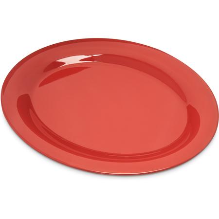 """4308252 - Durus® Melamine Oval Platter Tray 12"""" x 9"""" - Sunset Orange"""