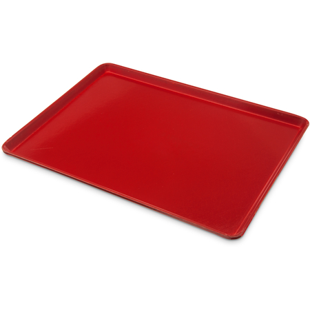 """1216LFG017 - Glasteel™ Solid Low Edge Tray 12"""" x 16"""" - Red"""