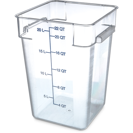 1072607 - StorPlus™ Polycarbonate Square Food Square Container 22 qt - Clear