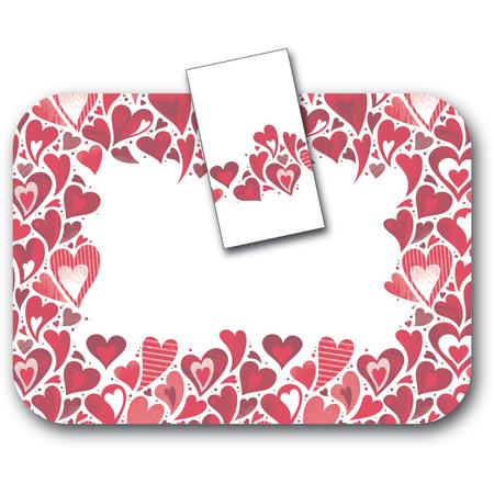 "DXHS002DN01 - Valentine's Day Design Dinner Napkin 15"" x 17"" (100/pk)"
