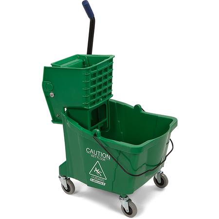 3690409 - Mop Bucket with Side Press Wringer 35 Quart - Green