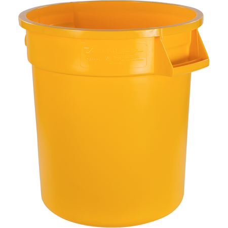 34101004 - Bronco™ Round Waste Bin Food Container 10 Gallon - Yellow
