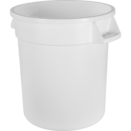 34101002 - Bronco™ Round Waste Bin Food Container 10 Gallon - White