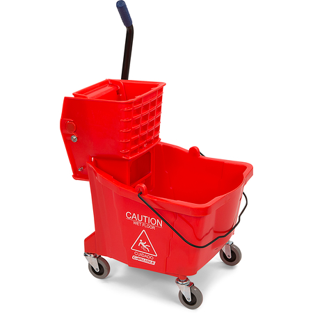3690405 - Mop Bucket with Side Press Wringer 35 Quart - Red