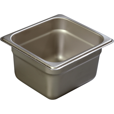 """608164 - DuraPan™ Sixth-Size Heavy Gauge Stainless Steel Steam Table Hotel Pan 4"""" Deep - Stainless Steel"""