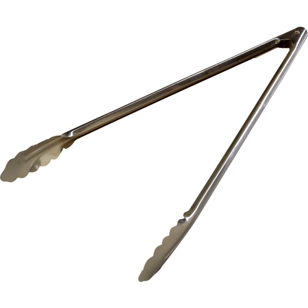 "607556 - Heavy Duty Tongs 16"" - Stainless Steel"