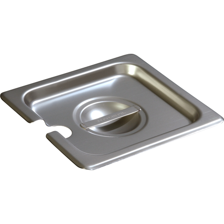 607160CS - DuraPan™ Sixth-Size Stainless Steel Hotel Pan Slotted Handled Cover