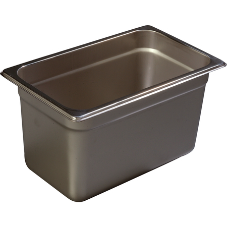 "608146 - DuraPan™ Quarter-Size Heavy Gauge Stainless Steel Steam Table Hotel Pan 6"" Deep - Stainless Steel"
