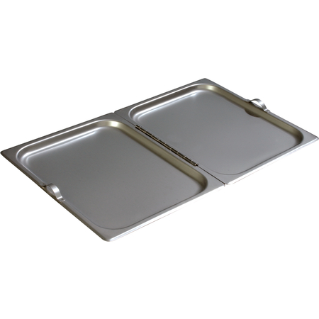 607000H - DuraPan™ Full-Size Stainless Steel Steam Table Hotel Pan Center Hinged Cover