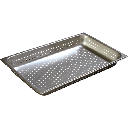 """607002P - DuraPan™ Full-Size Light Gauge Stainless Steel Perforated Steam Table Hotel Pan 2.5"""" Deep"""