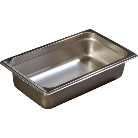 "607142 - DuraPan™ Quarter-Size Light Gauge Stainless Steel Steam Table Hotel Pan 2.5"" Deep"