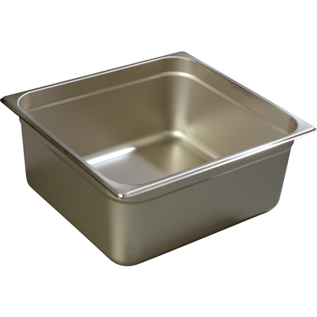 """608236 - DuraPan™ Two-Third-Size Heavy Gauge Stainless Steel Steam Table Hotel Pan 6"""" Deep - Stainless Steel"""