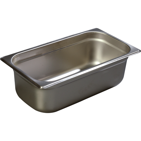 "608134 - DuraPan™ Third-Size Heavy Gauge Stainless Steel Steam Table Hotel Pan 4"" Deep - Stainless Steel"