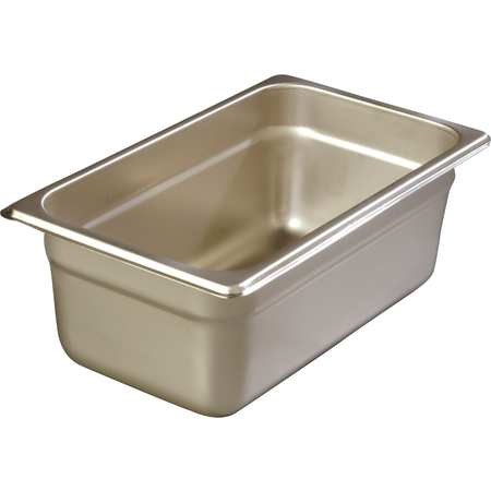 """608144 - DuraPan™ Quarter-Size Heavy Gauge Stainless Steel Steam Table Hotel Pan 4"""" Deep - Stainless Steel"""