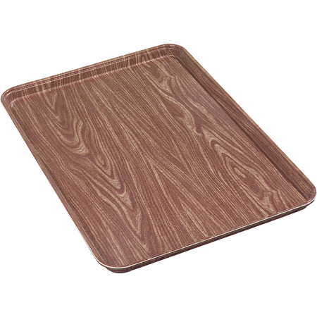 "2618WFG063 - Glasteel™ Wood Grain Display/Bakery Tray 17.9"" x 25.6"" - Pecan"