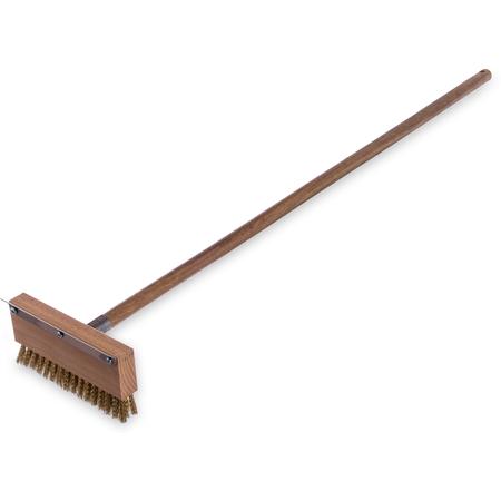 """4152000 - Oven Brush & Scraper w/Brass Bristles (includes Handle) 42"""""""