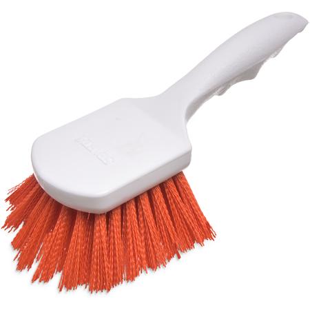 "4054124 - Sparta® Utility Scrub Brush with Polyester Bristles 8"" x 3"" - Orange"